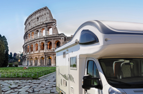 Camper parking in Rome